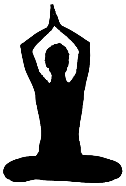 Yoga pose - sitting - black