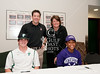 St. John's seniors Jessica Carroll and Cameron Neal sign letters of intent for Division 1 NCAA Athletics in SJS's Tradition Room on fall signing day, Nov 10 with coaches, school officials, parents, and teammates in attendance. Ms. Carroll committed to Northwestern for Lacrosse, and Mr. Neal to Tulane University for Baseball.