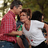 """<p><b> Former vice presidential nominee Sarah Palin and her family made headlines over the weekend when they … </b> </p><p> A. Were involved in a brawl at a party in Alaska </p><p> B. Revealed plans for their new reality TV series </p><p> C. Announced their four new pregnancies </p><p><b><a href=""""http://www.eonline.com/news/579476/sarah-palin-goes-makeup-free-and-kinda-sorta-gives-the-finger-after-family-is-involved-in-drunken-fight"""" target=""""_blank"""">LINK</a></b> </p><p>    (Chip Somodevilla/Getty Images)</p>"""