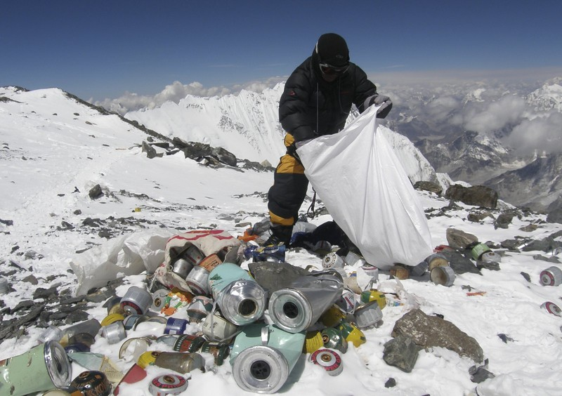 "<p>6. (tie) MOUNT EVEREST </p><p>Where else can you stand on top of the world … and tons of garbage and sewage. (unranked) </p><p><b><a href=""http://www.vox.com/2015/3/4/8148059/mount-everest-feces-pollution"" target=""_blank""> LINK </a></b> </p><p><br>    (Namgyal Sherpa/AFP/Getty Images)</p>"