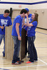 Danville's Matt Wilson gets his medal from Assistant Coach Dustin Kirkland and Danielle Haeffner.