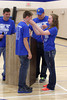 Danville's Mason Speer gets his medal from Assistant Coach Dustin Kirkland and Danielle Haeffner.