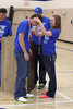 Danville's Trevor Elliott gets his medal from Assistant Coach Dustin Kirkland and Danielle Haeffner.