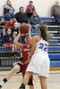 Danville's Allie Boyer (#22) and Cardinal's Lexi Fullenkamp (#21)