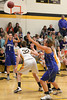 Danville's Gabby Grothe (#1), Carlee Kelly (#3) and Central Lee's Hayley Edwards (#32) adn Kelsey Bryant (#44)