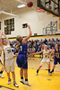 Danville's Carlee Kelly (#3), Emily Cameron (#33) and Central Lee's Jessica Reu (#34) and Britany Mathison (#30)