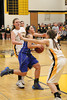 Danville's Allie Boyer (#23) and Central Lee's Micaela Bryant (#40) and Regan Shockley (#10)