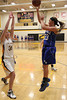 Danville's Allie Boyer (#23) and Central Lee's Jessica Reu (#34)