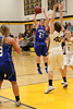 Danville's Carlee Kelly (#3), Kinsey Petersen (#21) and Central Lee's Micaela Bryant (#40) and McKenzie Krehbiel (#2)