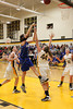 Danville's Gabbie Grothe (#1) and Central Lee's Hayley Edwards (#32), Kelsey Bryant (#44) and Britany Mathison (#30)
