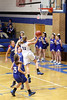 Danville's Alyssa Bauer (#11), Kinsey Petersen (#25), Madonna Stuflick (#15) and Holy Trinity's Abby Boeding (#23)
