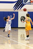 Danville's Kinsey Petersen (#24) and Notre Dame's Courtney Abolt (#22)