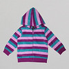 Girls Purple multicolor Fleece hoodie