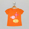 Puff Sleeve Graphic Tee - Bright Marigold