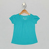 Mini Ruffle Tee - Capri Breeze