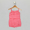 Ruffle Romper Strawberry Pink