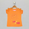 Bow Sleeve Tee - Blazing Orange