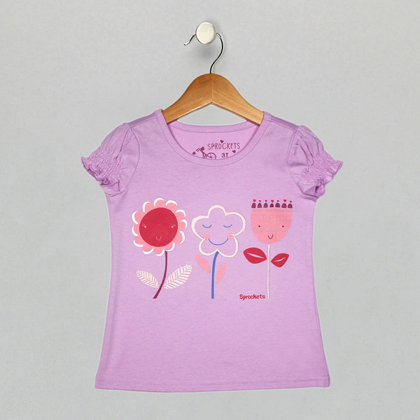 Gathered Cap Tee - Orchid