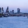 Night view of the City of London from Waterloo Bridge