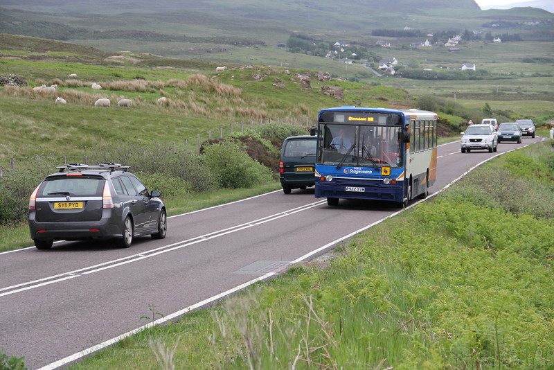 Stagecoach Highlands 20922 A87 near Borve 1  Jun 13