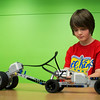 A boy pilots his Lego Mindstorms creation in the EPL Makerspace.  Taken on July 16, 2014 by James Cadden.