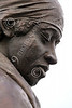 STY-BFREE 00015 Face of an adult Blacl female, an ex-slave, in a statue celebrating Black freedom, statue picture by Peter J Mancus