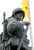 STY-VIETNWM 00065 A South Vietnamese Army soldier depicted in a Vietnam War Memorial statue picture by Peter J Mancus