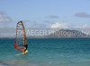 (Hawaii, Oahu) We spent the day at the beach on the north shore.  It was a quiet day for the surfers, so the wind surfers made the best of it.