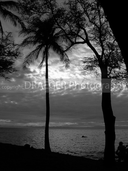 (Hawaii, Kona) This image was converted to B&W and as a result, revealed a wonderful image of the clouds during yet another beautiful Hawaiin sunset.