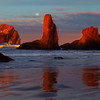 Sunset colors from Bandon Beach in Southern Oregon.