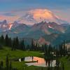 View Of Tipsoo Lake And Mt Rainier - Upper Tipsoo Lake, Mt Rainier National Park, WA