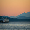 Sailing Into The Sunset  Olympics - Ferry Crossing From Seattle - Seattle, WA