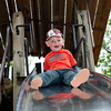 Little Man on the big slide