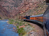 Train Through the Gorge--Train Through Royal Gorge below the Royal Gorge Bridge in Canon City, Colorado