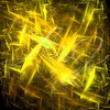 Yellow and gold static, lightening or electric charged explosion fractal.