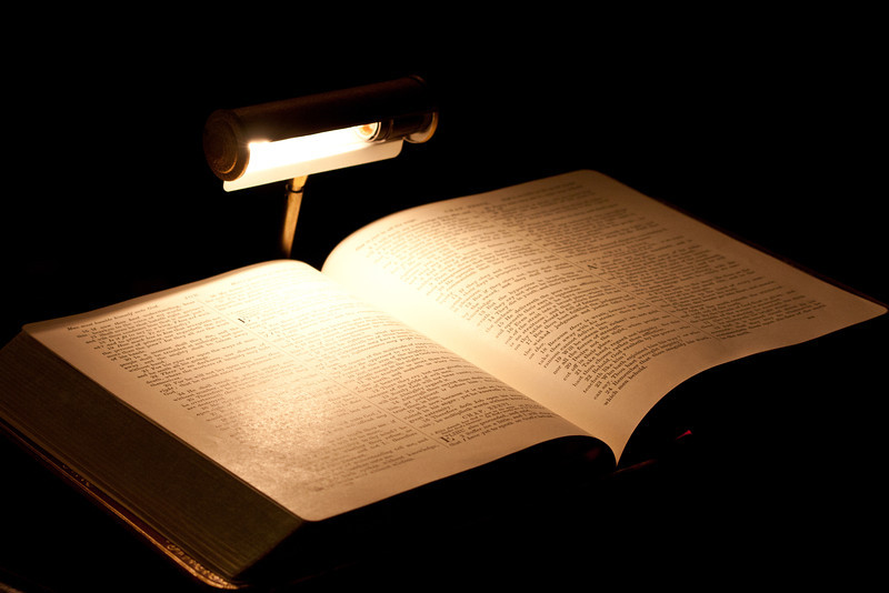Book under a Light
