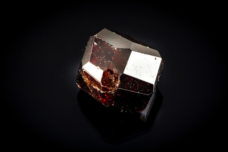 Garnet Faceted Crystal