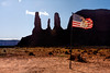 Flage at the Navajo Indian Reservation