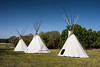 Three Indian Teepees