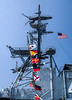 Flags on Aircraft Carrier