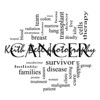 Cancer Word Cloud Concept in Black and White with great terms such as disease, chemo, survivor, patient, doctor and more.