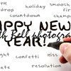 Happy New Year Hand Writing Word Concept