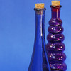 Blue and Purple Bottles