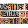 ethics word abstract