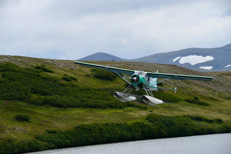 Seaplane taking off small lake in Katmai Alaska...........................................Prints or digital files can be purchased by e mailing DFriend150@gmail.com