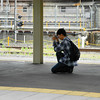 A Dedicated Railfan. At Kyoto Station.