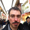 Me in the Sanjo Arcade, Kyoto. Self Portrait Taken with my iPod.