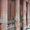 Well Worn Pillars. Along one of the temple buildings on Mt. Hiei.