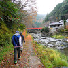 Along the Riverside Trail. We went for a hike out in the countryside near Arashiyama in Kyoto.
