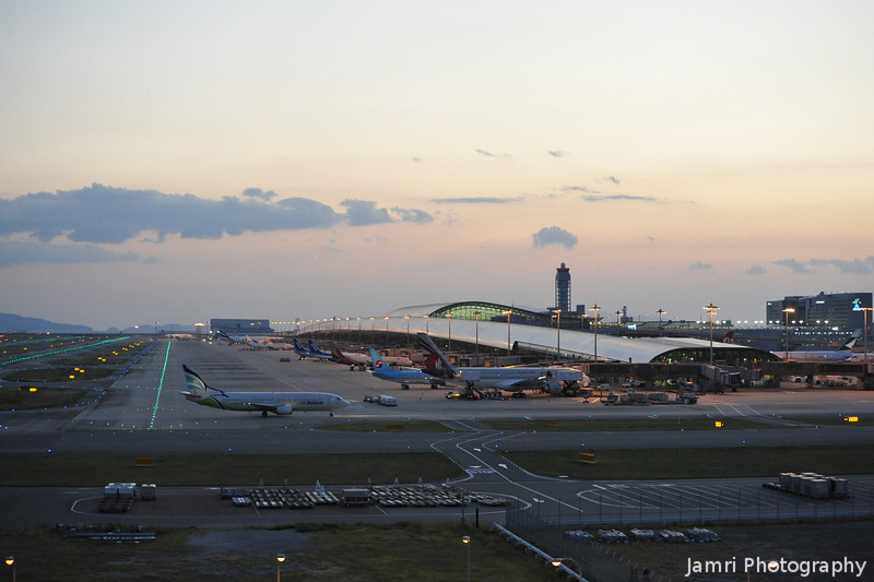 Kansai Terminal 1 in the Early Evening